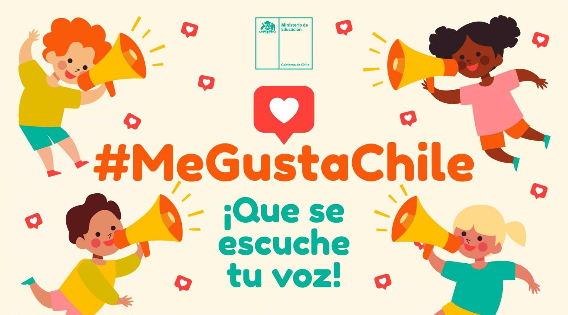 Mineduc lanza iniciativa #MeGustaChile para darle voz a los niños del país